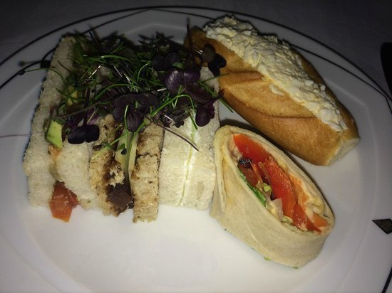 The Palm Court: Vegetarian Sandwich selection