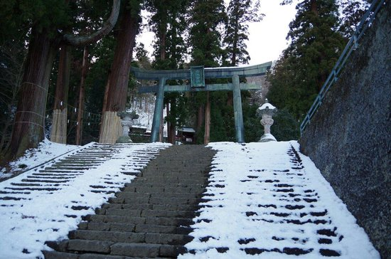 Myogi Shrine : 銅鳥居・三本杉