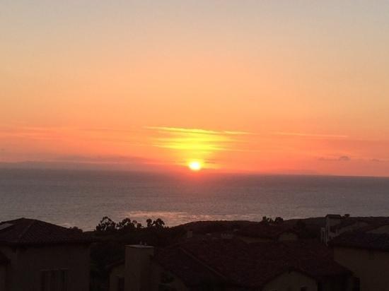 Marriott's Newport Coast Villas: sunset from balcony!