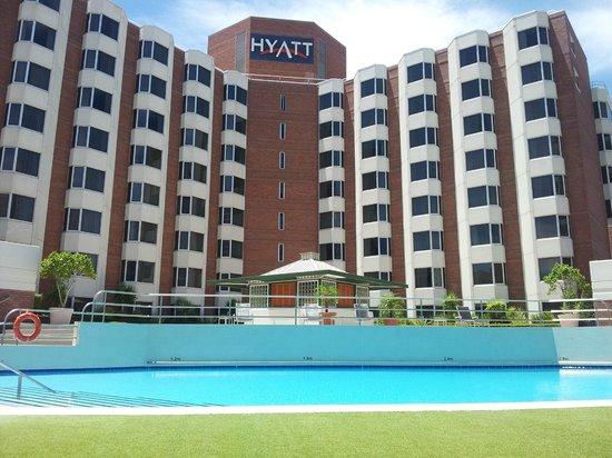 Hyatt Regency Perth: View from the lounger Jan 2014
