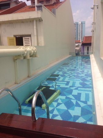Outdoor Pool On The Second Floor Picture Of The Daulat Singapore Tripadvisor