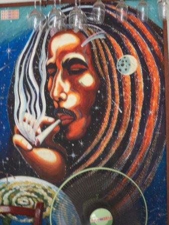 Bang Bang Bar: Great painting of Bob on the wall