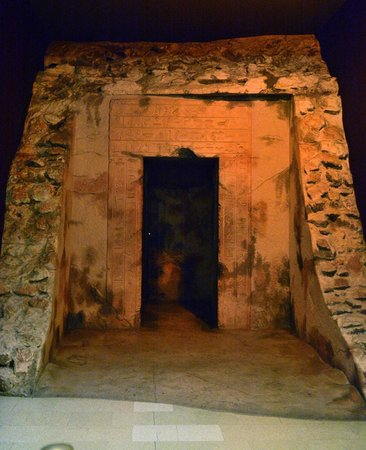 Entrance to a scale model of an egyptian tomb - Picture of