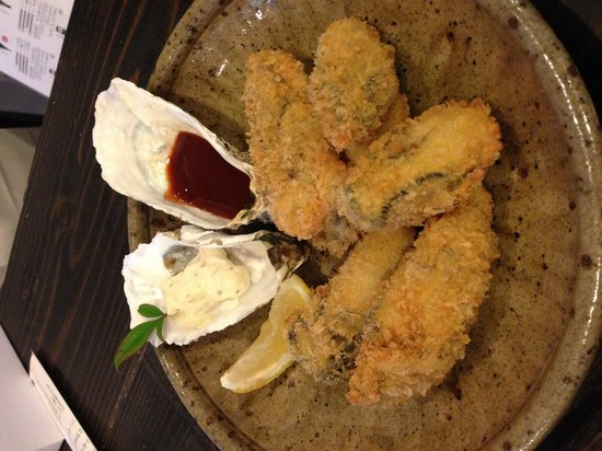 Kakiya : Fried oysters, ¥1,000.