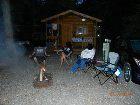 Ponderosa Campground: Feux de camp après un bon souper