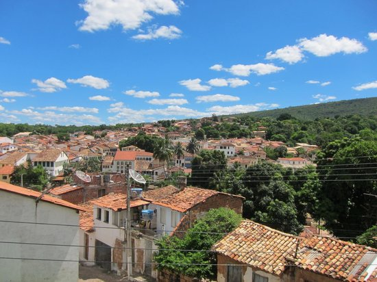 Pousada Lavramor: view from the street out front overlooking the town