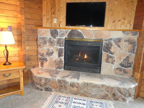Ireland's Rustic Lodges: Cool fireplace that adds to the atmosphere