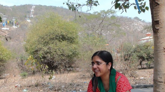 Rope way to budha temple, Rajgir
