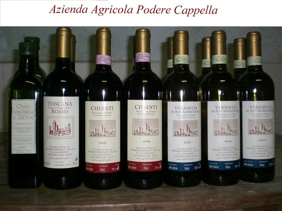 Agriturismo Podere Cappella: I nostri prodotti vini