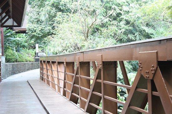 The Tamara Coorg: bridge to the resturant