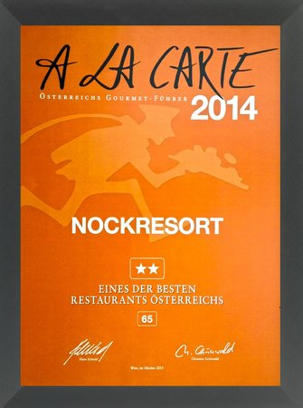Hotel NockResort: von A LA CARTE 2014 ausgezeichnet