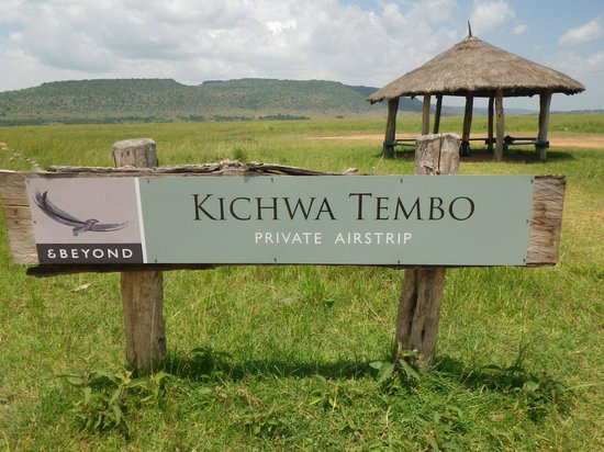 andBeyond Kichwa Tembo Tented Camp: Private landing strip, 5 mins from the camp