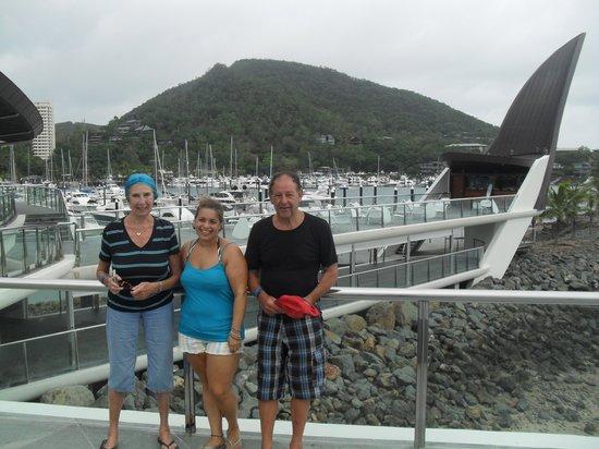 Cruise Whitsundays : At Hamilton yacht club (very posh!)