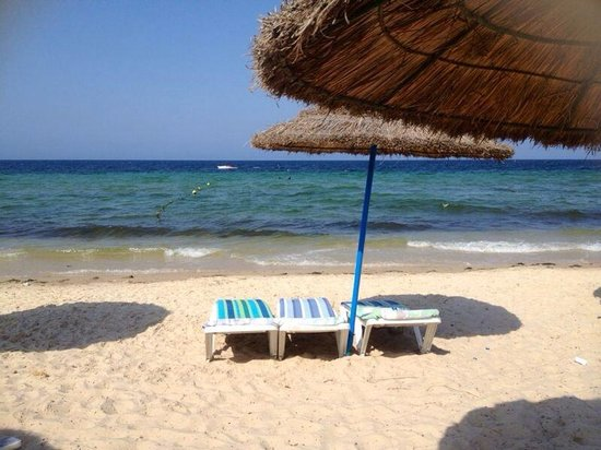 Club Rosa Rivage: On the beach at the hotel