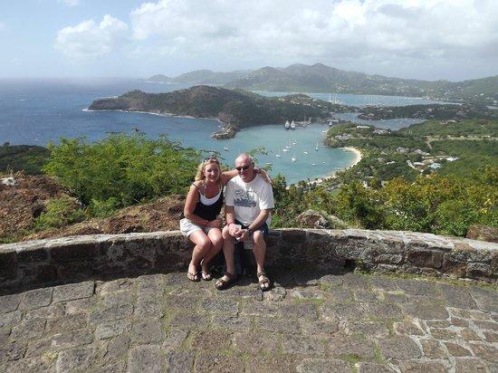 Antigua V.I.P. Tours : View over the English Harbour