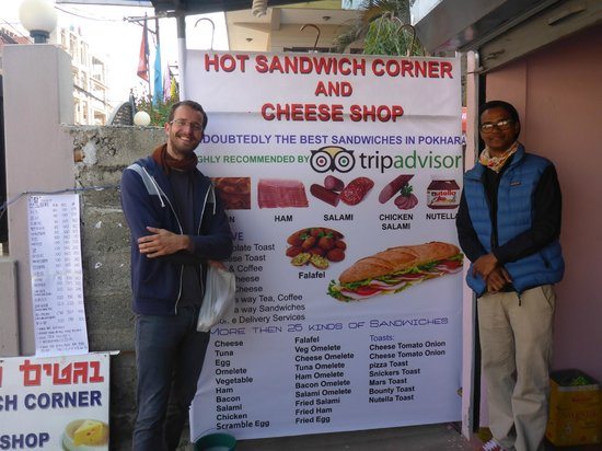 Hotel Serenity: Ram and me at his Sandwich Place