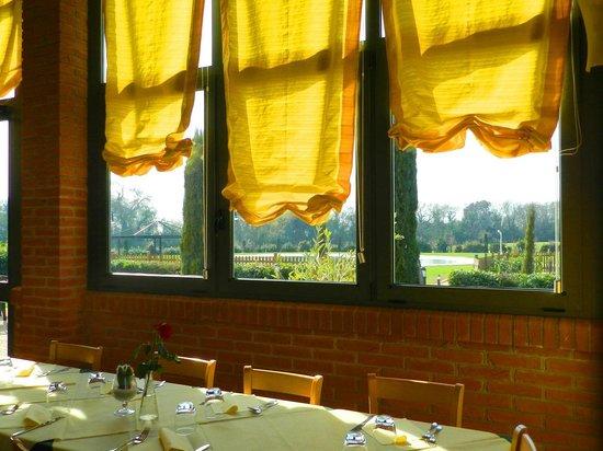 La Taverna del Grillo: interno con vista piscina
