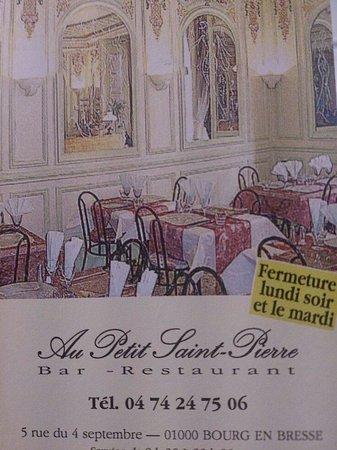 Au Petit Saint-Pierre