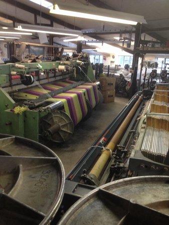 Melin Tregwynt Woolen Mill: A loom in operation