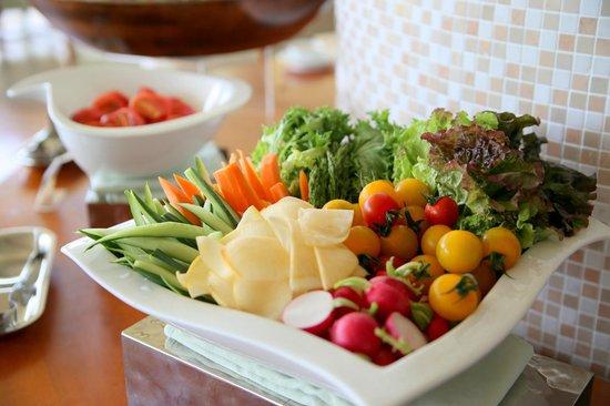 Island Hotel & Resort Nasu: 朝食には新鮮野菜を