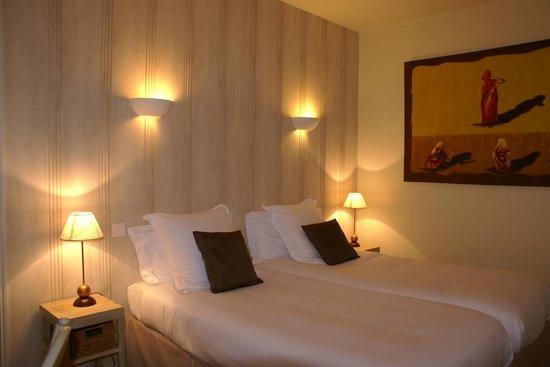Hotel La Closerie : chambre double supérieure en twin (option à la demande)