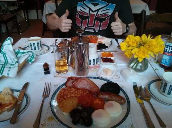 New House Farm: now that's what you call an English breakfast!
