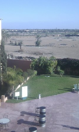 Ibis Marrakech Palmeraie: View from the 2nd room (the other looked onto the carriageway)
