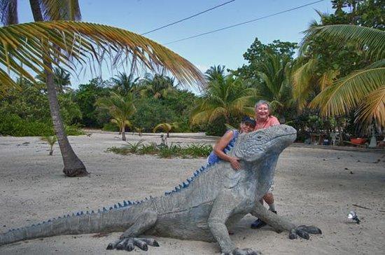Davinoff's Concrete Sculpture Garden: John and Sheryl wanta iguana