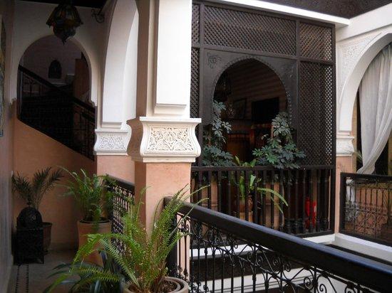 Riad La Rose D'Orient : vue du balcon au premier
