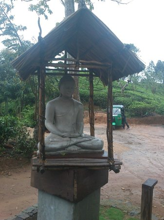98 Acres Resort and Spa: Statue at entrance