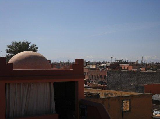 Riad La Rose D'Orient: vue de la terrasse