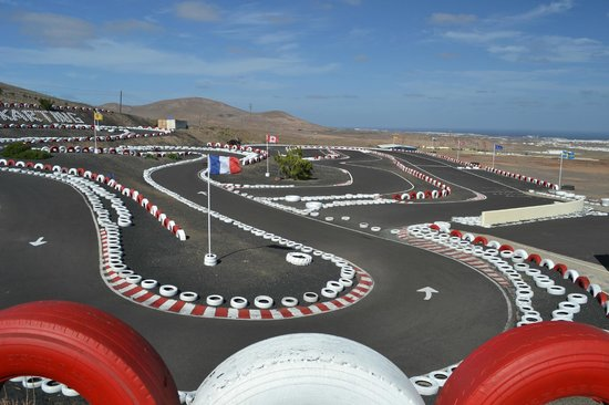 Go Karting San Bartolome : Our fabulous hillside track in Lanzarote