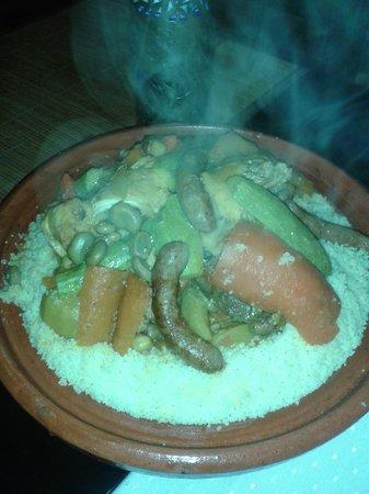 Riad Alboraq: couscous pour 4 on était 2