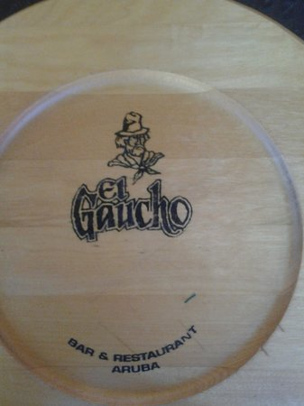El Gaucho Argentine Grill: Wooden decorative plate