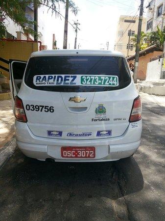 Hotel Casa de Praia: Atenção,  Não pegue este táxi,  fiz denúncia,  queria cobrar para ir ao aeroporto por fora do re