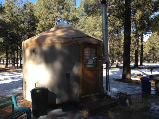 Flagstaff Nordic Center: our yurt