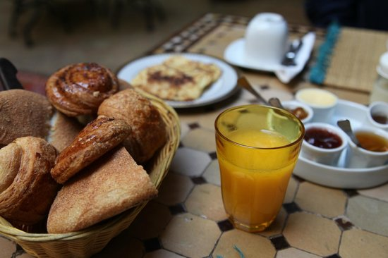 Riad Les Trois Palmiers El Bacha: A great breakfast