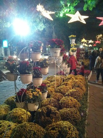 Lake of the Restored Sword (Hoan Kiem Lake) : Flower decoration during new year