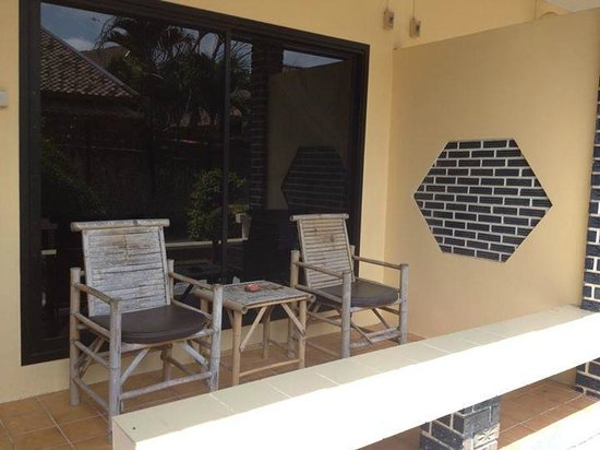 Samui Beach Resort: La terrasse de notre chambre
