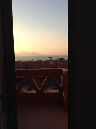 Hauza Beach Resort: view of the sunrise from our room