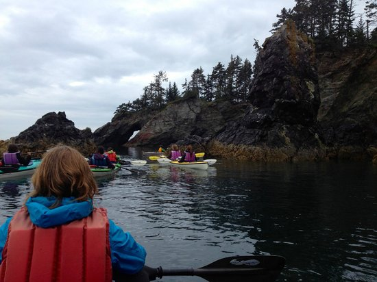 Across the Bay Tent and Breakfast: Kayaking with the group