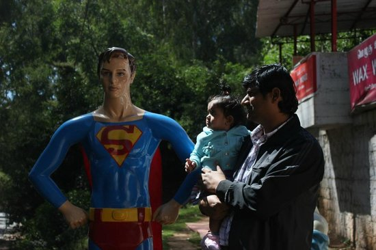 Wax World Museum: Superman at the entry door