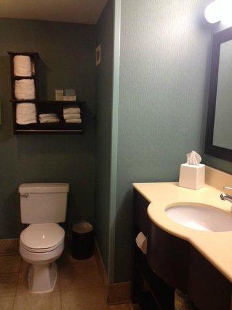 Hampton Inn Beaufort : Bathroom with vanity in it.