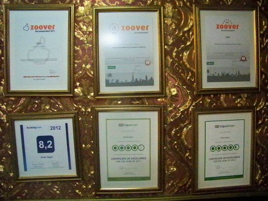 Hotel Agan: Distinctions de professionnels pour cet hôtel