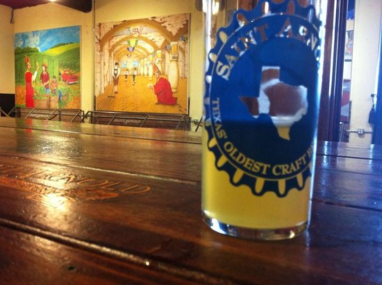 Saint Arnold Brewing Company : This was the Lawnmower beer, with cool murals in background