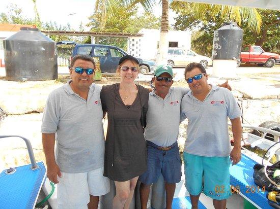 We B Divin' Cozumel: The Yucab III crew