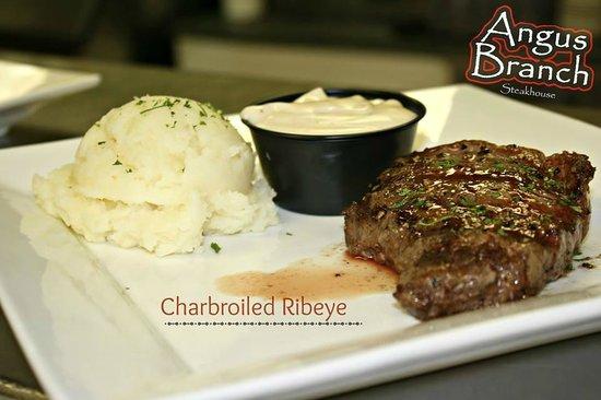 Angus branch Steakhouse Monett MO: Charbroiled Ribeye