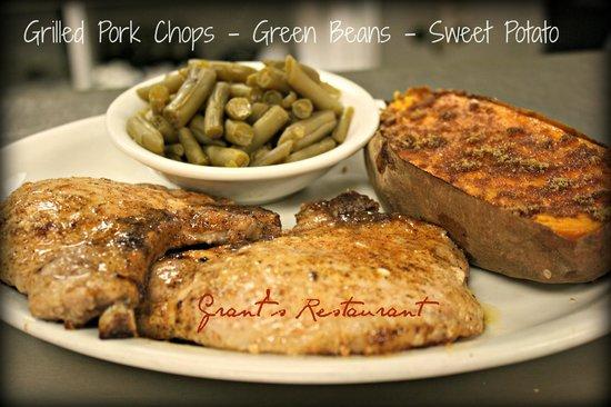Angus branch Steakhouse Monett MO: Grilled Pork Chop Dinner