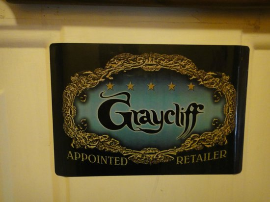 Graycliff Hotel: Door sign