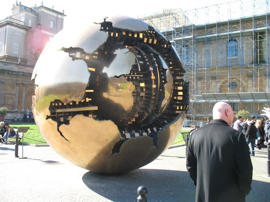 What a Life Tours : Sphere within sphere ,by Arnaldo Pomodoro - Vatican Courtyard